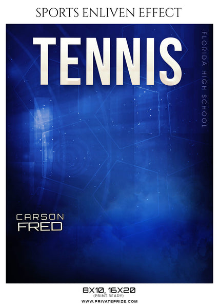 CARSON FRED-TENNIS- SPORTS ENLIVEN EFFECT - Photography Photoshop Template