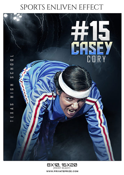 CASEY CORY-ATHLETIC- SPORTS ENLIVEN EFFECT - Photography Photoshop Template