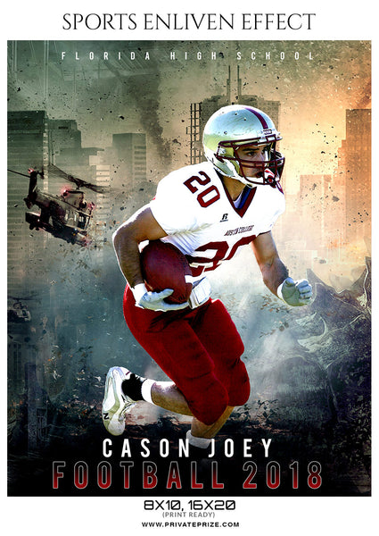 Cason Joey - Football Sports Enliven Effect Photography Template - Photography Photoshop Template