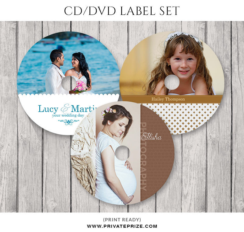 Affection CD/DVD Label Set - Photography Photoshop Templates
