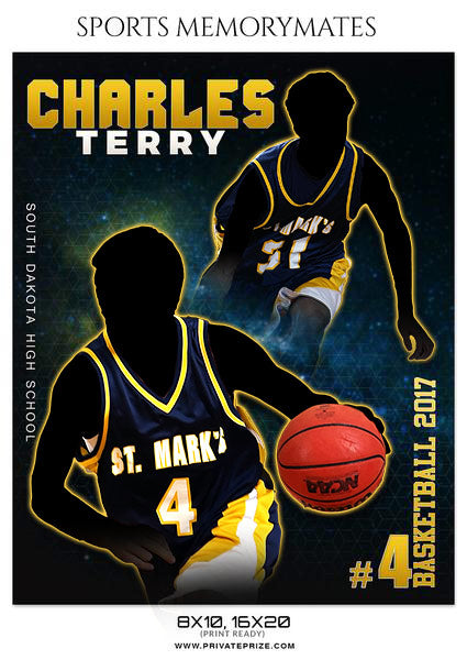 CHARLES TERRY-BASKETBALL MEMORY MATE