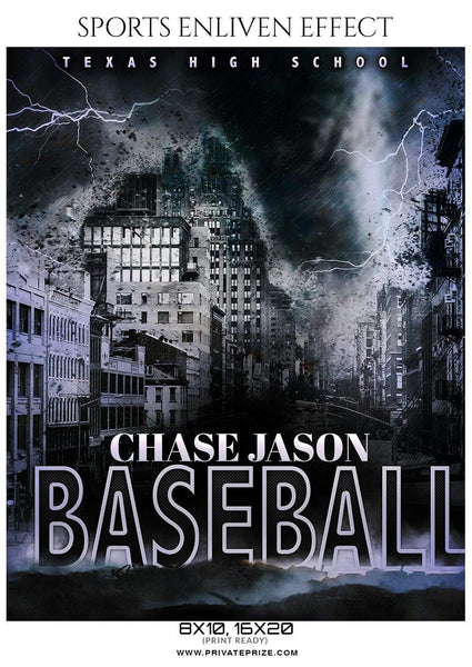 Chase Jason - Baseball Sports Enliven Effects Photography Template - Photography Photoshop Template