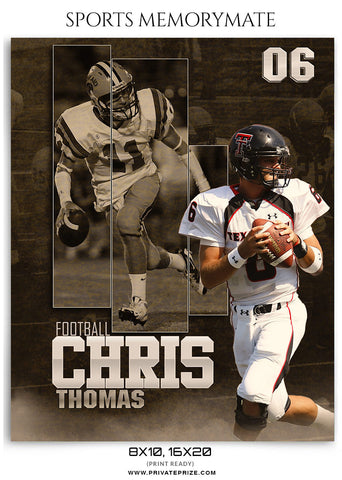 Chris-Thomas-Football- Sports Memory Mate Photoshop Template - Photography Photoshop Template
