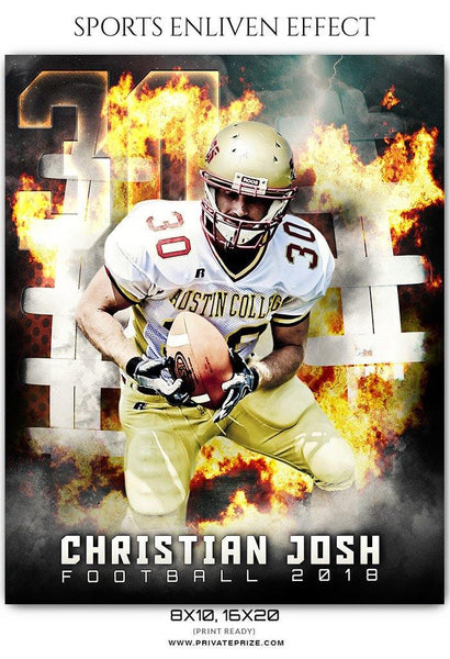 Christian Josh - Football Sports Enliven Effect Photography Template - Photography Photoshop Template