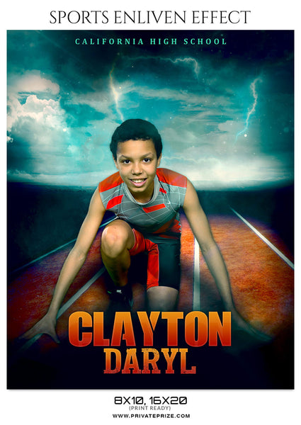 CLAYTON DARYL-ATHLETICS- SPORTS ENLIVEN EFFECTS - Photography Photoshop Template