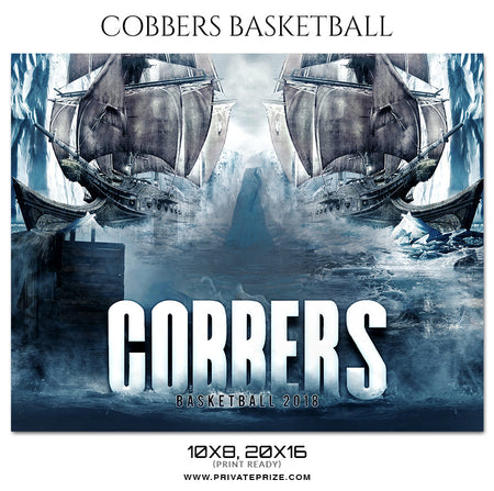 Cobbers - Basketball Theme Sports Photography Template