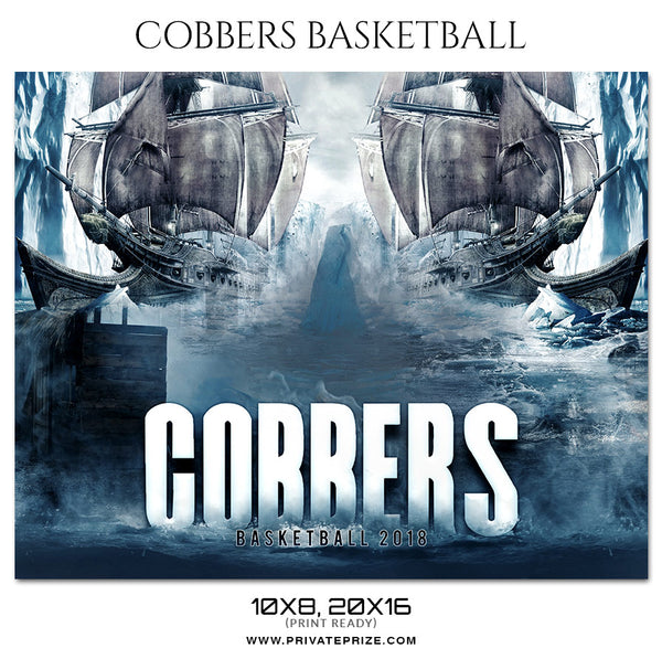 Cobbers - Basketball Theme Sports Photography Template - Photography Photoshop Template