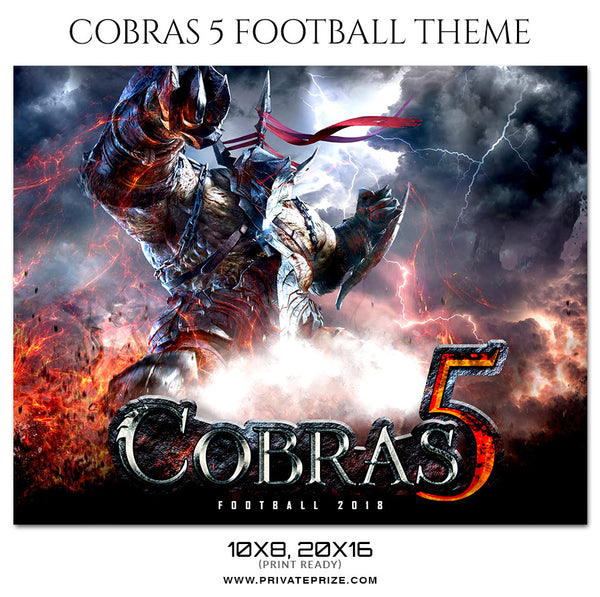 Cobras - Football Themed Sports Photography Template - Photography Photoshop Template