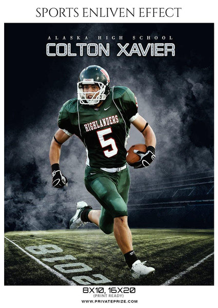 Colton Xavier - Football Sports Enliven Effect Photography Template - Photography Photoshop Template