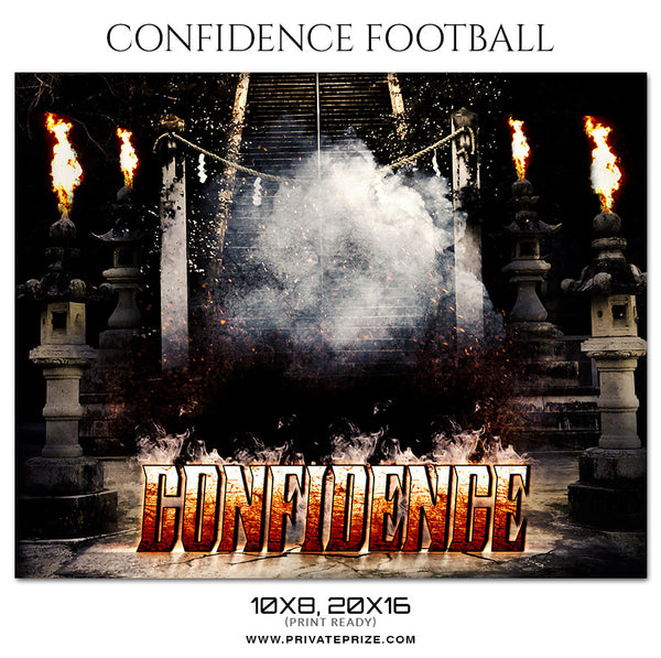 Confidence - Football Themed Sports Photography Template - Photography Photoshop Template