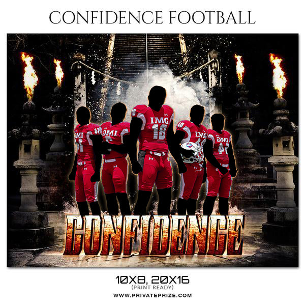 Confidence - Football Themed Sports Photography Template