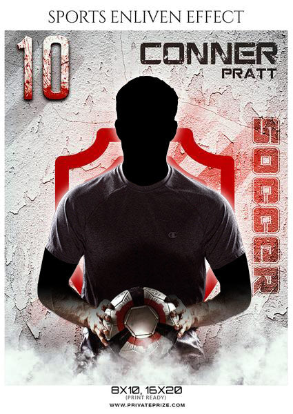 Conner Pratt - Soccer Sports Enliven Effects Photography Template