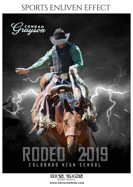 Conrad Grayson  - Rodeo Sports Enliven Effects Photography Templates