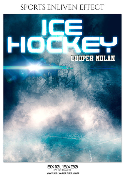 COOPER NOLAN-ICE HOCKEY - SPORTS ENLIVEN EFFECT - Photography Photoshop Template