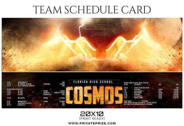 Cosmos - Team Sports Schedule Card Photoshop Templates - Photography Photoshop Template