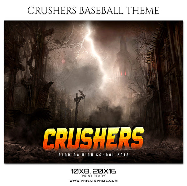 Crushers - Baseball Themed Sports Photography Template - Photography Photoshop Template