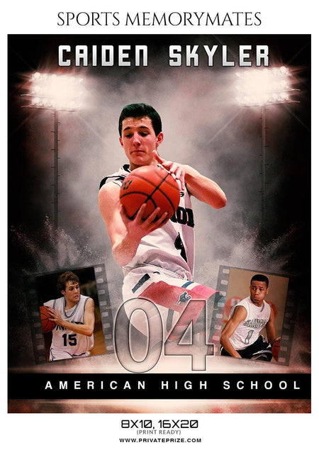 Caiden-Skyler - Basketball Memory Mate Photoshop Template