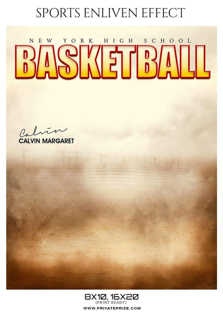 Calvin Margaret - Basketball Sports Enliven Effect Photography Template - Photography Photoshop Template