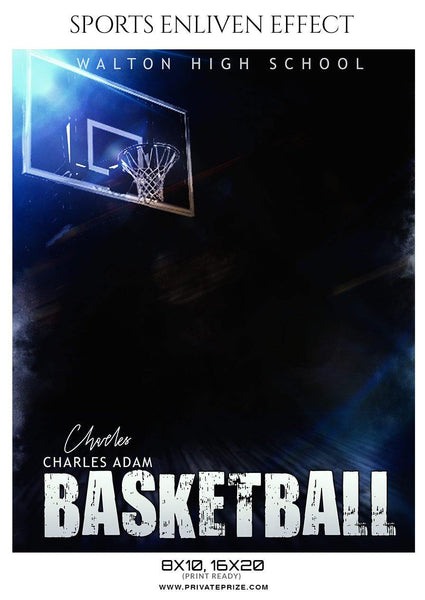 Charles Adam - Basketball Sports Enliven Effect Photography Template