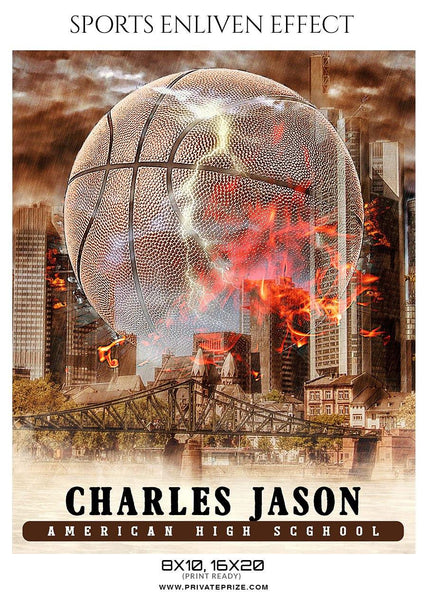 Charles Jason - Basketball Sports Enliven Effect Photography Template