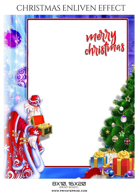 Christmas Enliven Effect - Photography Photoshop Template