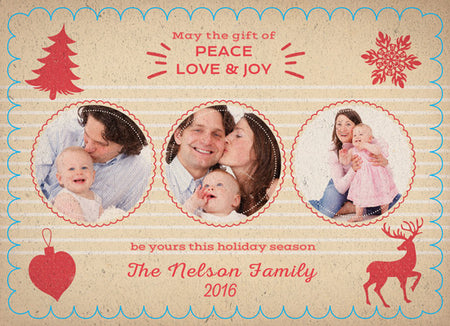 Christmas Card Nelson Family - Photography Photoshop Template