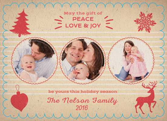 Christmas Card Nelson Family - Photography Photoshop Templates