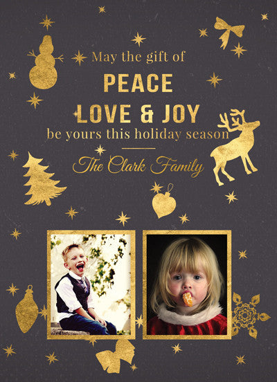 Christmas Card The Clark Family - Photography Photoshop Template