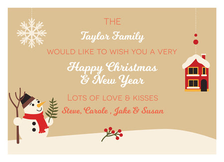 Christmas Card The Nolan Family - Photography Photoshop Template