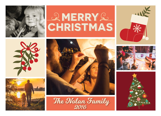 Christmas Card The Nolan Family - Photography Photoshop Templates