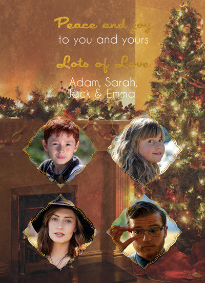 Christmas Card Clark Family - Photography Photoshop Template