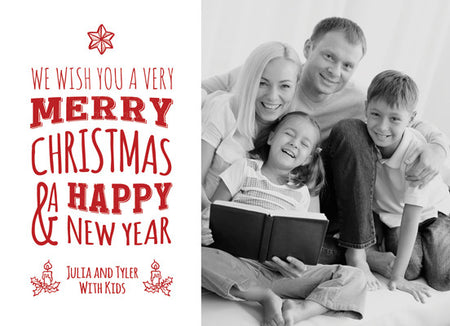 Christmas Card Julia and Tyler - Photography Photoshop Template