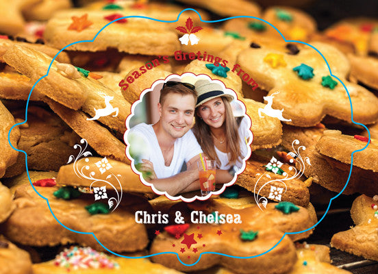 Christmas Card Chris and Chelsea - Photography Photoshop Templates