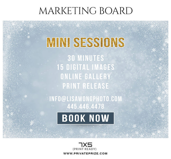 Christmas - Mini Session Flyer Template for Photographers