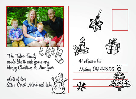 Christmas Card The Talor Family - Photography Photoshop Template