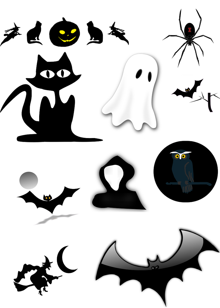 Halloween Vector Graphics Set - Photography Photoshop Templates