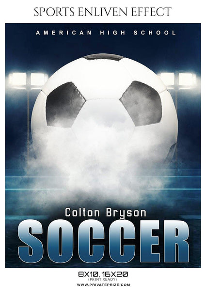 Colton Bryson - Soccer Sports Enliven Effects Photography Template