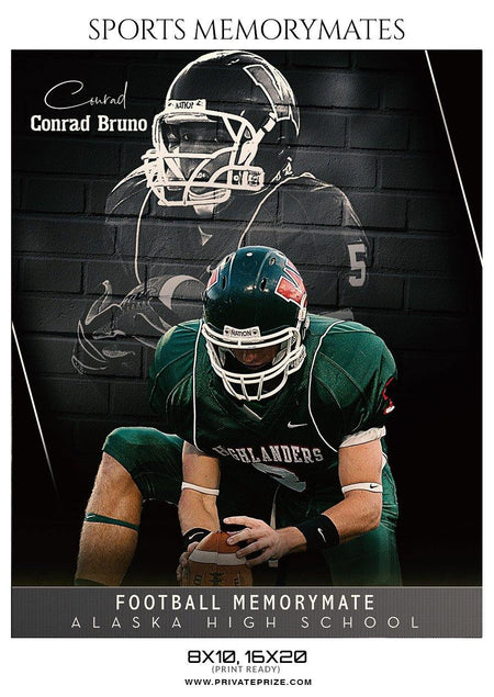 Conrad Bruno Football - Sports Memory Mates Photography Templates