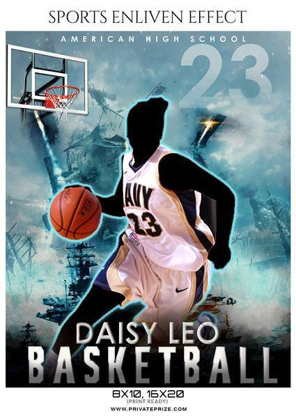 Daisy Leo - Basketball Sports Enliven Effects Photography Template