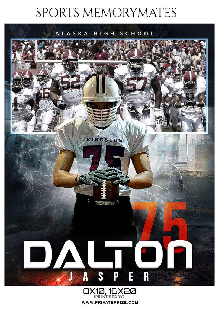 Dalton Jasper Football Memory Mate Photoshop Template