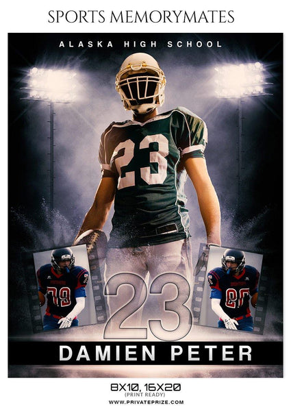 Damien Peter - Football Memory Mate Photoshop Template - Photography Photoshop Template