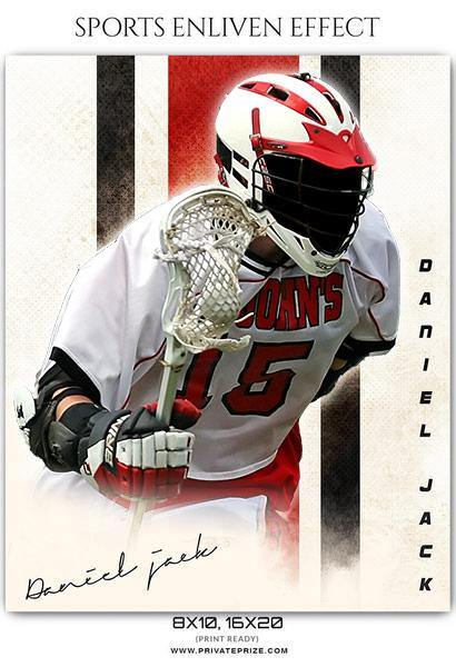 Daniel Jack - Lacrosse Sports Enliven Effects Photography Template