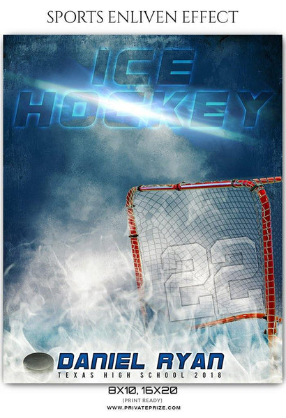Daniel Ryan - Ice Hockey Sports Enliven Effects Photography Template - Photography Photoshop Template