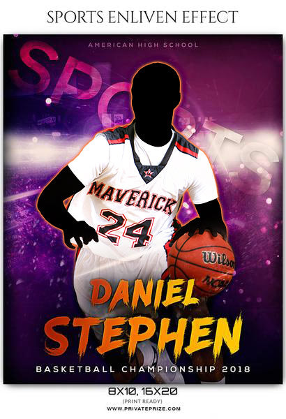 Daniel Stephen - Basketball Sports Enliven Effects Photography Template