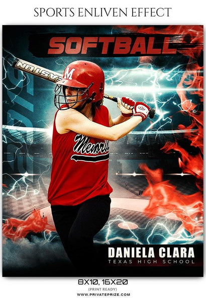 Daniela Clara - Softball Sports Enliven Effects Photography Template