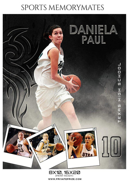 Daniela Paul - Basketball Sports Memory Mates Photography Template - Photography Photoshop Template