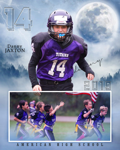 Danny Jaxton - Football Memory Mate Photoshop Template