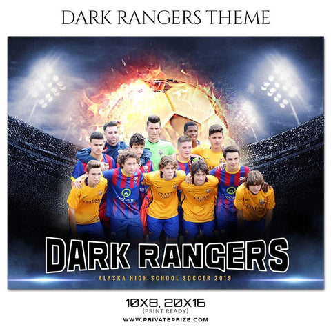 Dark Rangers - Soccer Themed Sports Photography Template