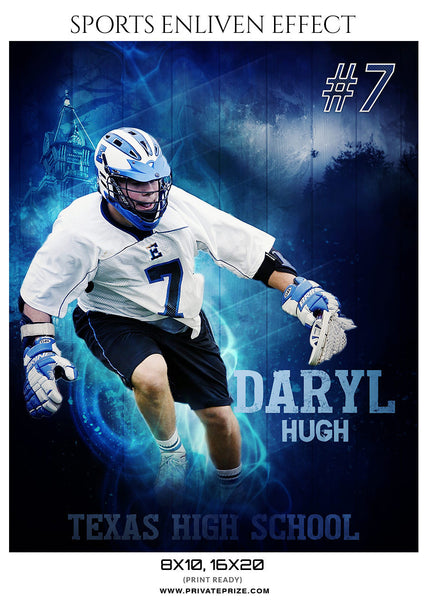 DARYL HUGH-LACROSSE- SPORTS ENLIVEN EFFECTS - Photography Photoshop Template
