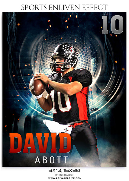 DAVID ABOTT FOOTBALL - SPORTS ENLIVEN EFFECT - Photography Photoshop Template